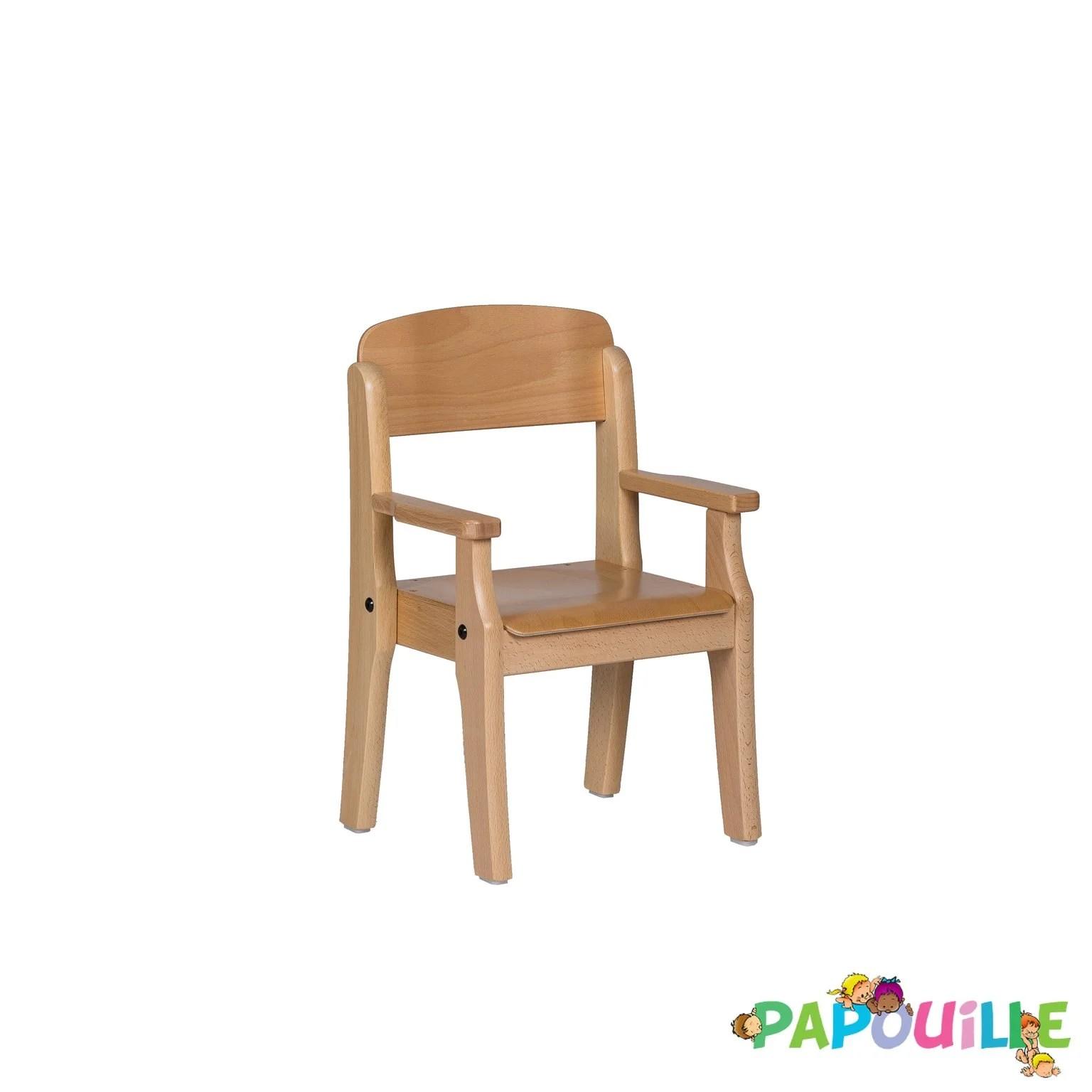 fauteuil enfant en bois avec accoudoir