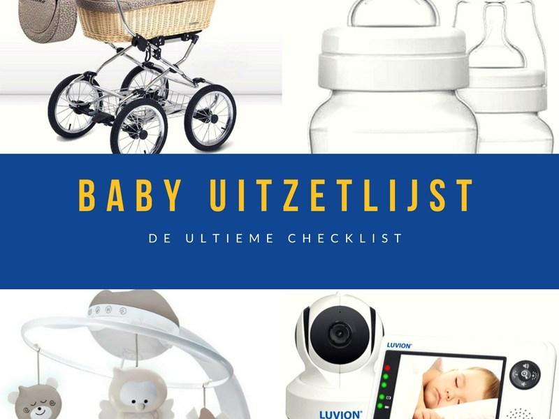 Baby uitzetlijst en checklist