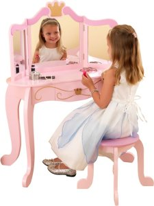 prinsessen kaptafeltje met krukje