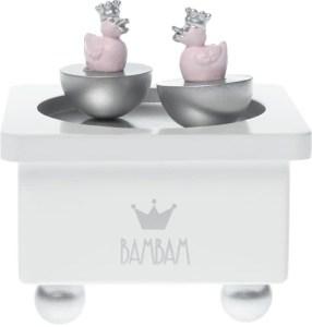 prinsessen zilveren rose muziekdoosje