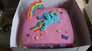 My little pony verjaardagstaart