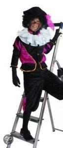 zwart paars pietpak