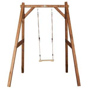 enkelvoudige houten schommel voor buiten in de tuin