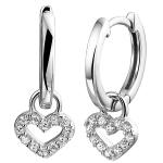 zilveren hartjes oorbellen