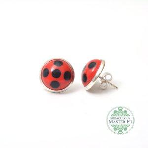 Lady bug oorbellen