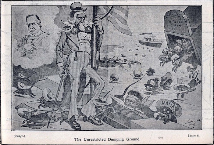 """America, the """"unrestricted dumping ground"""" which depicted Greeks and other Eastern Europeans as animals."""