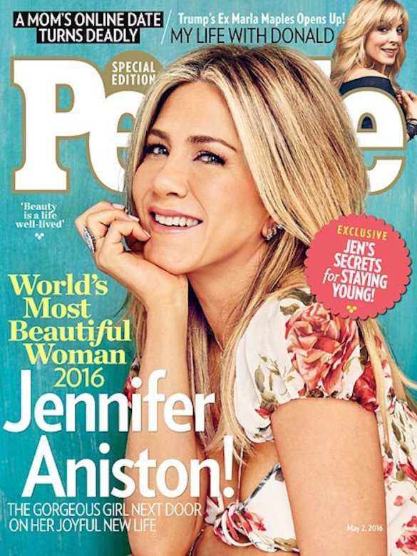 "Jennifer Aniston is People Magazine's 2016 ""Most Beautiful Woman"" in the World… Complete with Greek Secrets"
