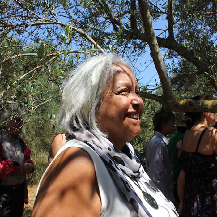 Glenda Humes, daughter of Reg Saunders, one of the Anzac fighters, was in Crete for the commemoration