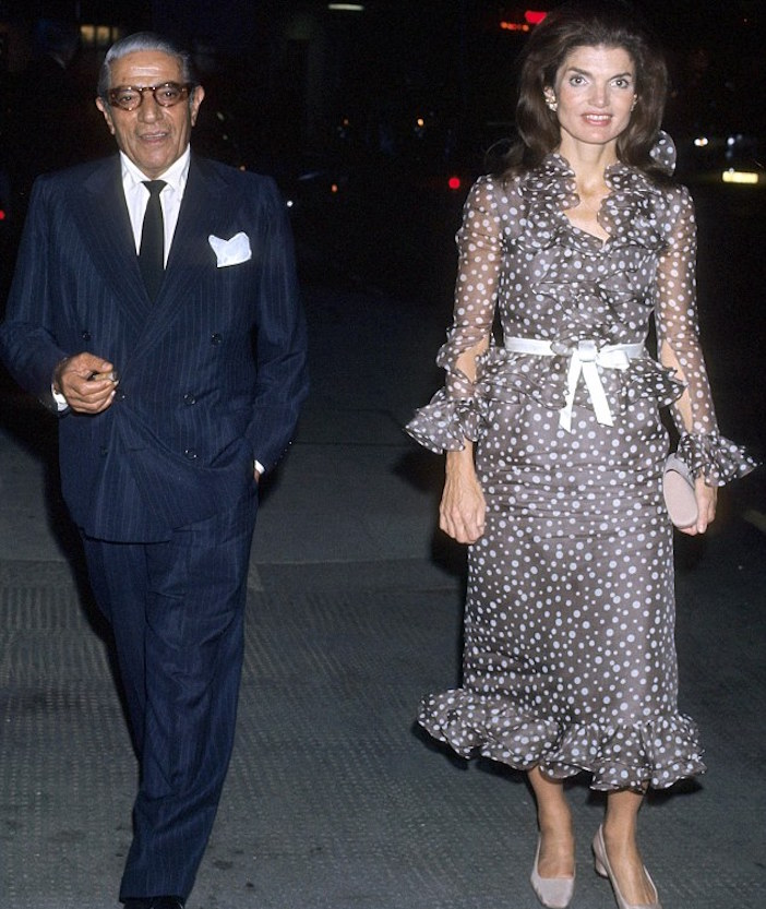 Athinas Grandfather Shipping Magnate Aristotle With Jackie Onassis