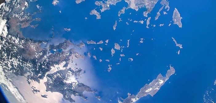 Photo of the Day: Italian Astronaut Onboard International Space Station Says Hello to Crete, Hello to Greece from Space