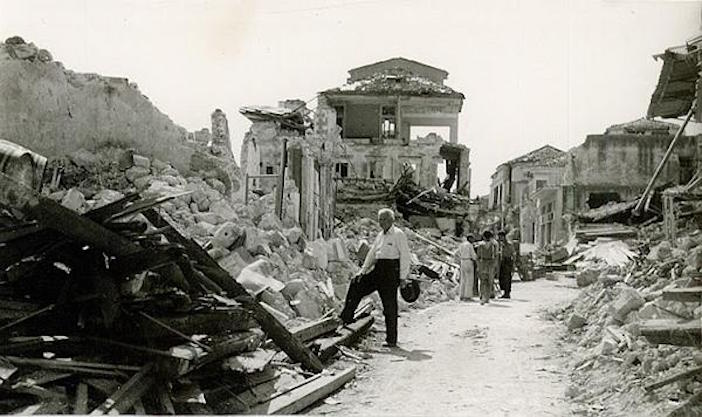 Devastation in Kefalonia, August 1953.
