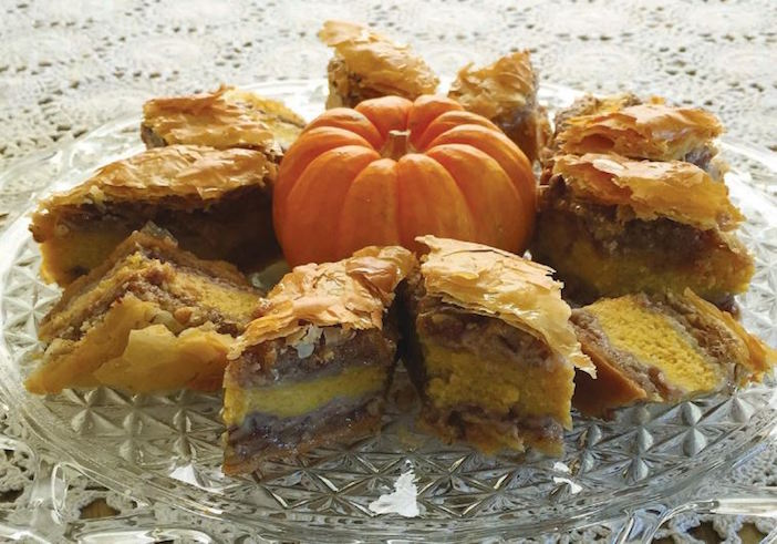 George Menzelos' pumpkin custard baklava from his grandmother Hrisanthi