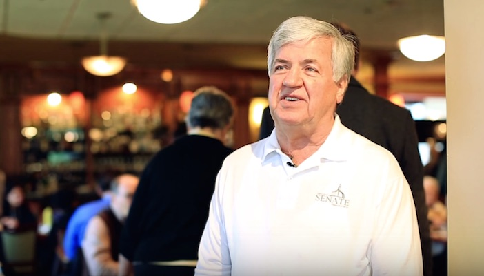 George Dimopoulos at his restaurant in Northfield, Michigan