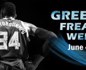Basketball Star Giannis Antetokounmpo in New York City for Cosmos FM 30th Anniversary Events