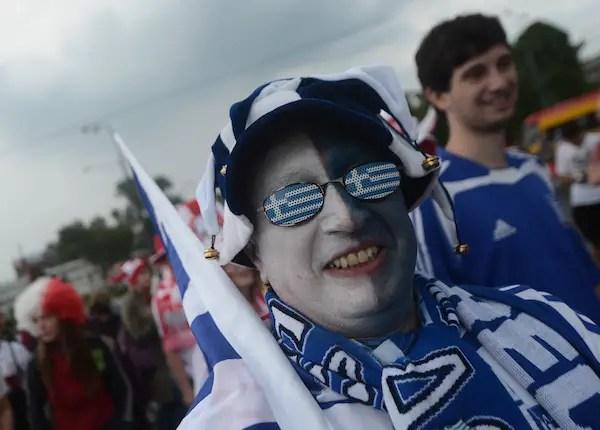 A fan of Greece's national football team