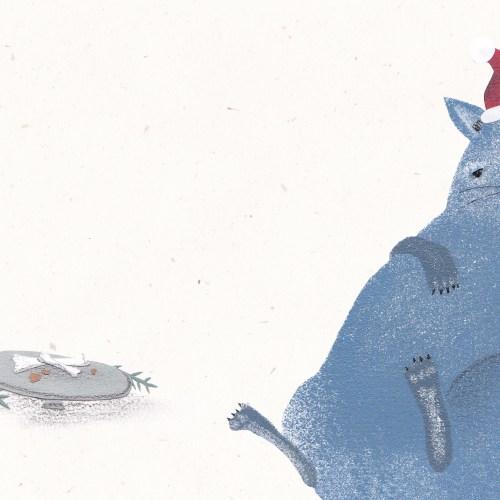 Festessen-Weihnachtscollage-Dicke Katze
