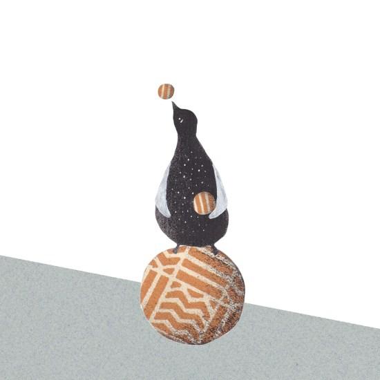 Zirkustiere-Pinguine-Ballspiel