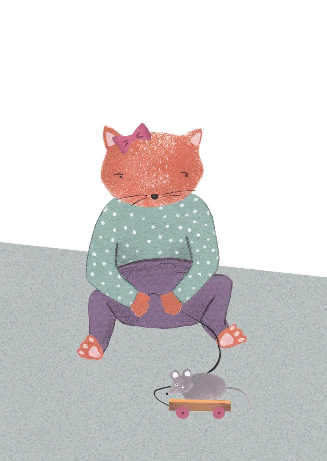 Spieltier-Katzenkind-Tigerkatze