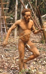 Papua-Kombai-tree people tribe