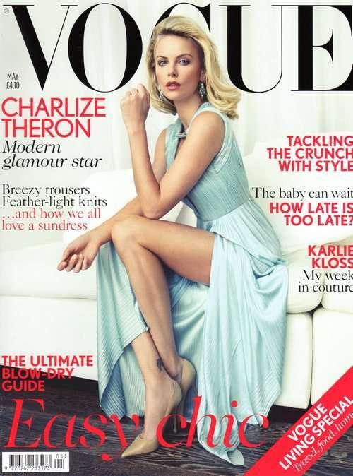 Okładka z Charlize Theron jest jedną, którą portal ranker.com wytypował jako jedną z 27 najlepszych okładek Vogue'a. Zdjęcie to oraz głosowanie, w którym możesz wziąć udział znajdziesz TU