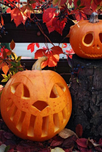 diy, halloweenowa dynia, halloweenowy lampion z dyni