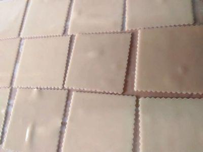 Placas de canelones cocidas