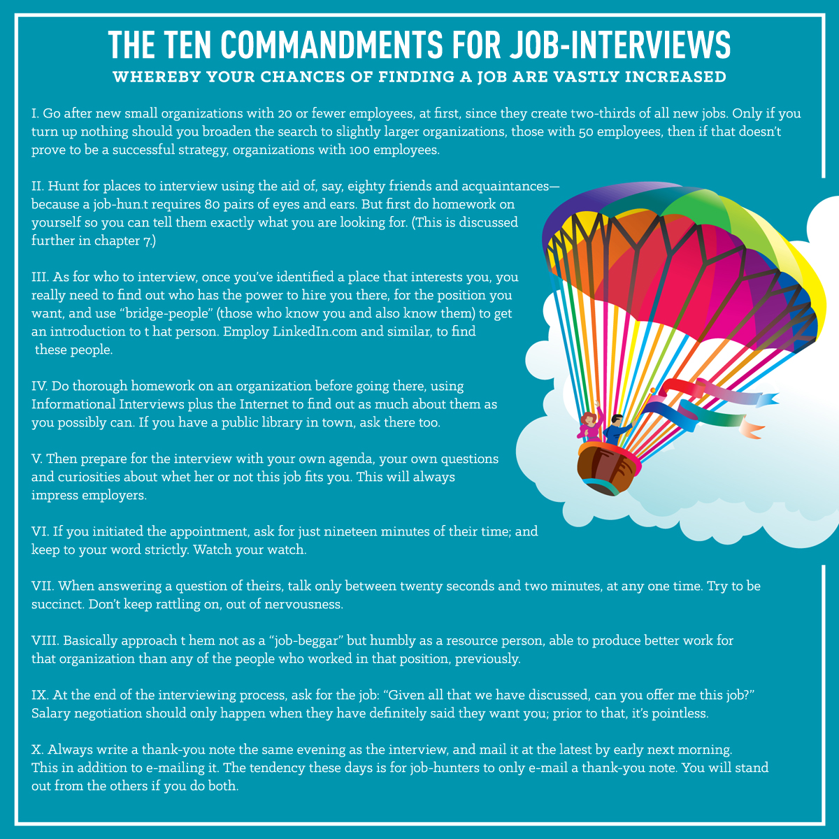 Interviewing Tips From What Color Is Your Parachute