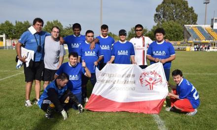 Etapa de definiciones en el fútbol 5 de Olimpíadas Especiales Argentina