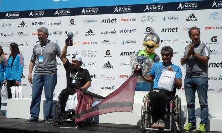 Gran participación del atletismo adaptado en los 42K de Buenos Aires