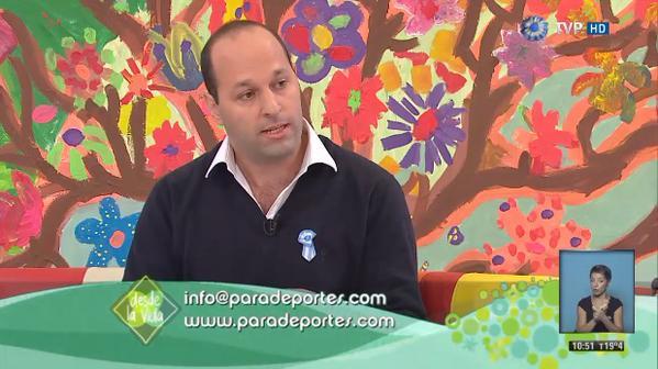 """Paradeportes.com, presente en el programa """"Desde la vida"""" de la TV Pública"""