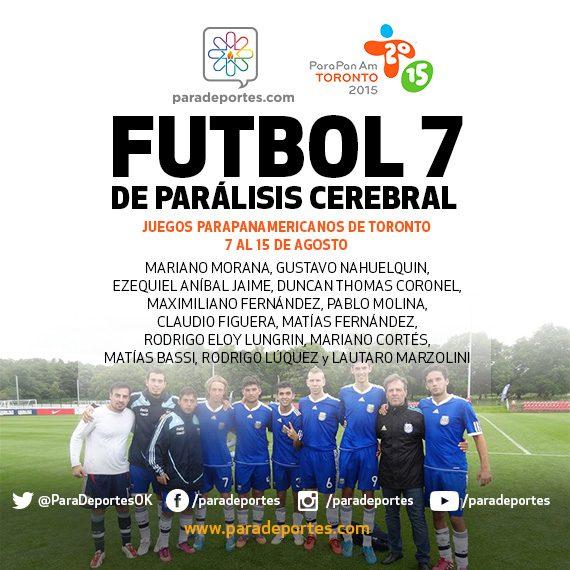 Fútbol 7: Argentina confirmó su equipo para Toronto