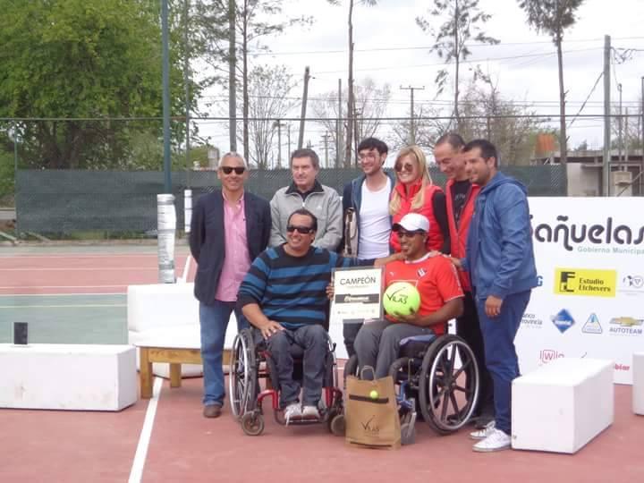 Tenis adaptado: Ledesma, campeón en singles y dobles de Cañuelas