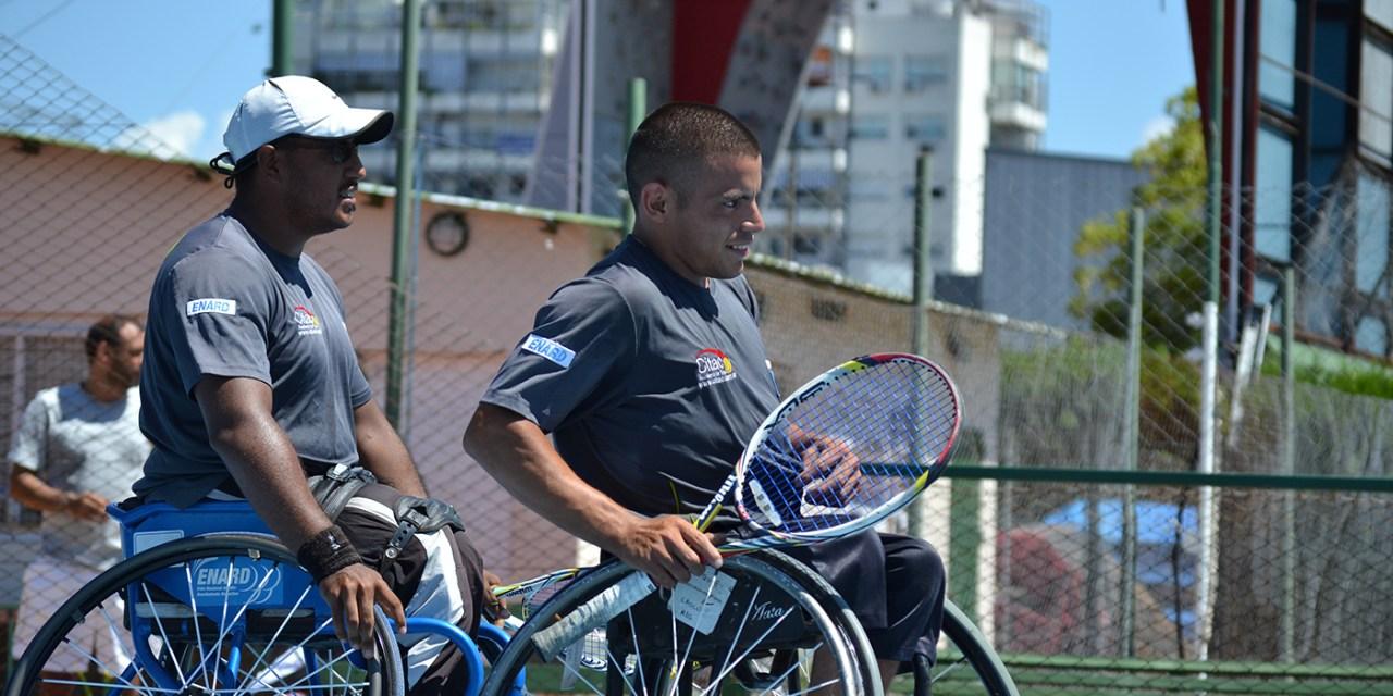 Tenis adaptado: Ledesma y Casco, firmes en Vicente López