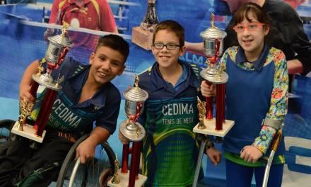 Tenis de mesa adaptado: los juveniles siguen sumando experiencia