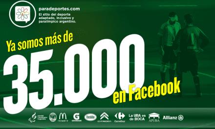 Paradeportes crece: Ya somos más de 35.000 fans en Facebook