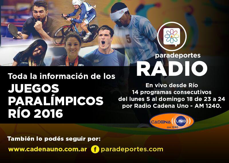 ESTE LUNES A LAS 23ARRANCA PARADEPORTES RADIO DESDE BRASIL
