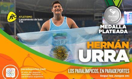 Atletismo: ¡Medalla plateada para Hernán Urra!