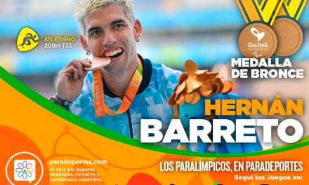 Atletismo: ¡Segundo bronce para Hernán Barreto!