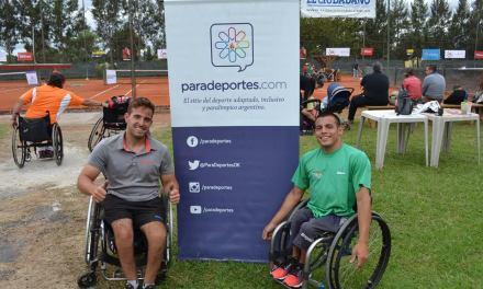 Tenis adaptado: Casco, Palacio y Scarazzini, finalistas en Brasil