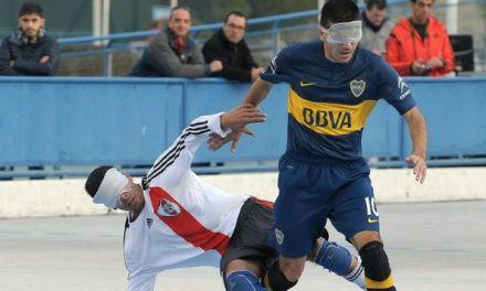 Boca, River y Estudiantes, en una jornada de súper acción en el fútbol para ciegos