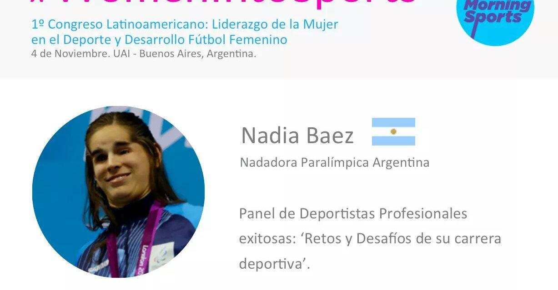 Nadia Báez, protagonista en #WomenIntoSports