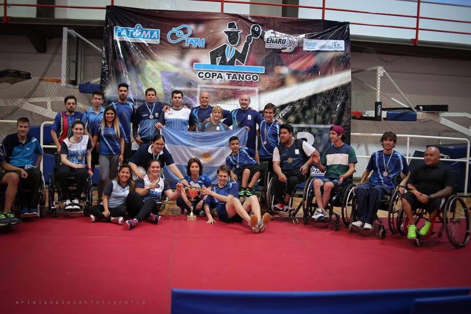 Tenis de mesa adaptado: diecinueve medallas para Argentina en la Copa Tango