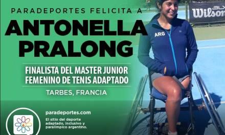 Tenis adaptado: Antonella Pralong, finalista del Master Junior en Francia