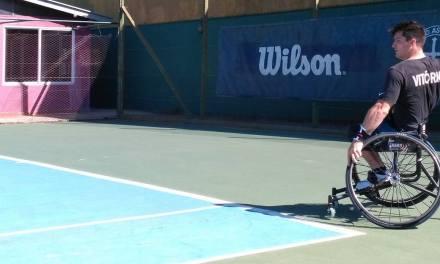 Tenis adaptado: Gustavo Fernández se entrena en Buenos Aires