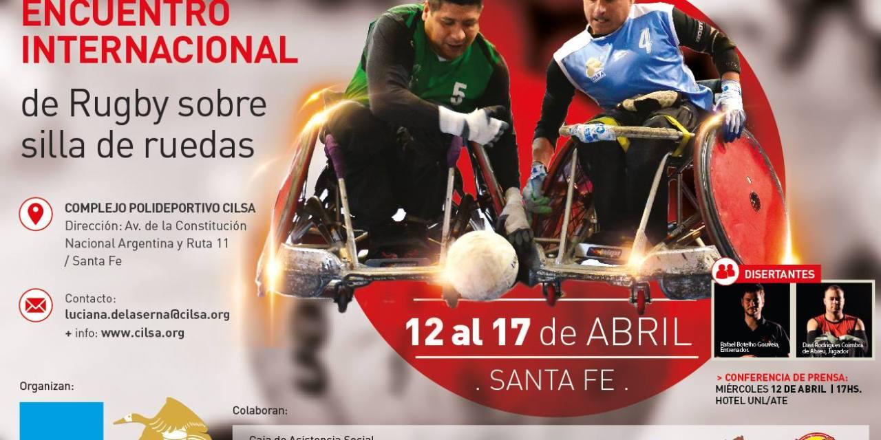 Quad rugby: encuentro internacional en Santa Fe