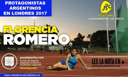 Florencia Romero: de los Juegos Evita a Londres 2017