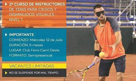 Tenis para ciegos: se viene el segundo curso de instructores
