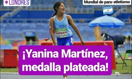 Mundial de para-atletismo: ¡Yanina Martínez, medalla plateada!