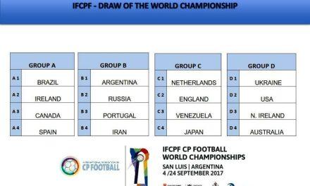 """Fútbol 7: Argentina , en el """"grupo de la muerte"""" en el Mundial de San Luis"""