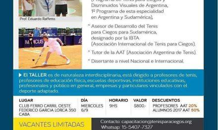 Nuevo taller de tenis para ciegos en Ferro